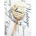 "Topper Candy Bar 5cm ""Love linii aurii"""
