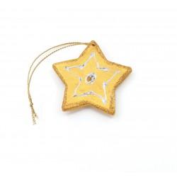 Ornamente Brad Ceramica Stea Auriu