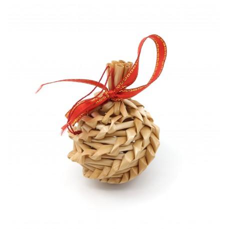 Ornament din paie Craciun M1