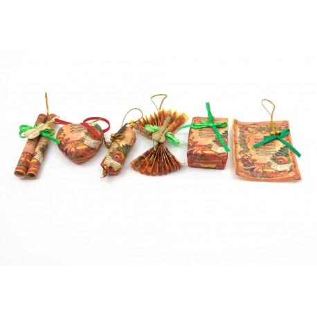 Set 6 ornamente hartie pentru brad