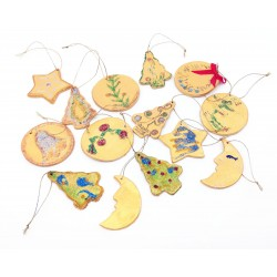 Set 14 ornamente ceramica pentru brad