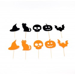 Set 30 de stegulete decupaj Halloween
