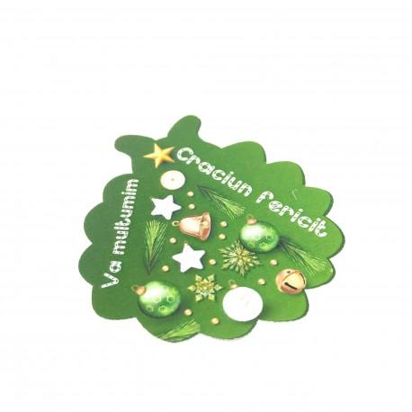 Set 10 etichete adezive, model coronita-bradut