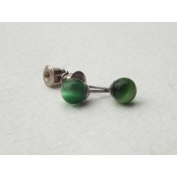 Cercei Bobita Cat's Eye Verde